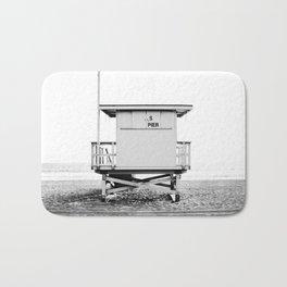 Beach Photography black and white print Bath Mat
