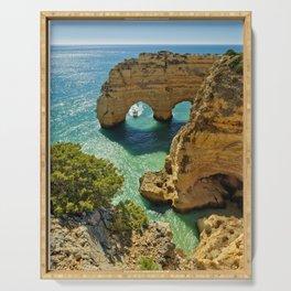 Praia da Marinha arches, Portugal Serving Tray