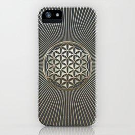 Flower of life metallic embossed iPhone Case