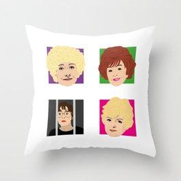 Coronation Street - Vera, Rita, Ivy and Deirdre Throw Pillow