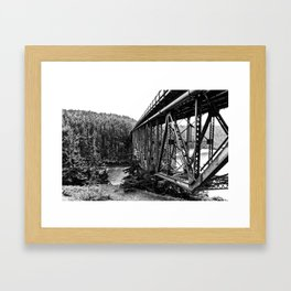A Bridge into the Woods Framed Art Print