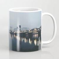 portland Mugs featuring Portland II by Hannah Kemp