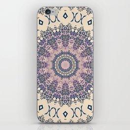 No. 20 Wisteria Arbor Way Regal Purple & Ivory Hugs and Kisses Mandala iPhone Skin