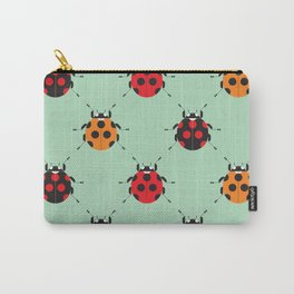 Lady Bug Green Carry-All Pouch
