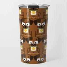 Super cute animals - Cute Brown Puppy Dog Travel Mug