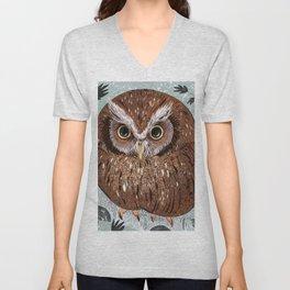 Painted Owl Unisex V-Neck
