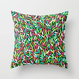 Encrusted With Sprinkles (Holiday Edition) Throw Pillow