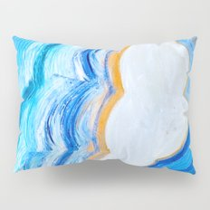 Blue and gold agate Pillow Sham