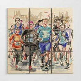 Runners Jogging Wood Wall Art