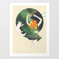 cosmic Art Prints featuring Cosmic by Adara Sánchez Anguiano