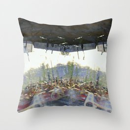 Opinions toppled over by points of view becoming policy. Throw Pillow
