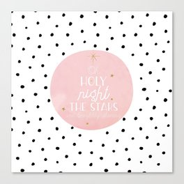 Merry Scandinavian Christmas - Polka dots and Typography Canvas Print
