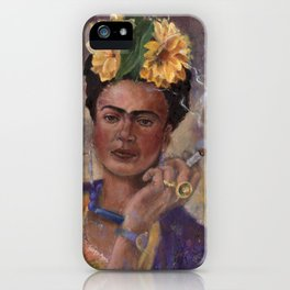 Frida Kahlo Take No Prisoners While Smoking iPhone Case