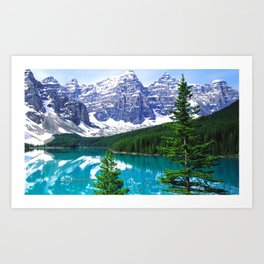Canadian Wonder: Moraine Lake Art Print