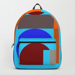 Minimalist geometry with light blue background Backpack