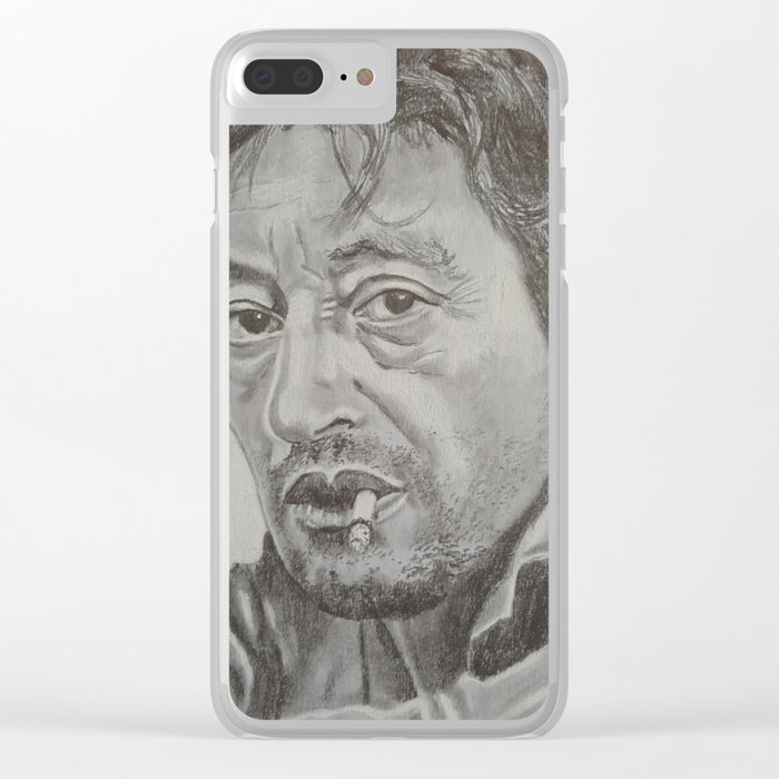 Serge Gainsbourg Clear iPhone Case