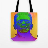 frank Tote Bags featuring Frank  by Nikki Hung