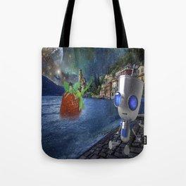 wonderland robot Tote Bag
