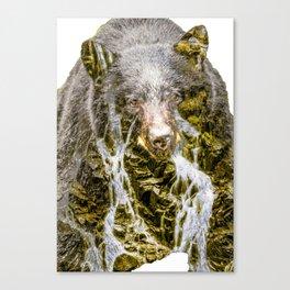Waterfall Bear Canvas Print