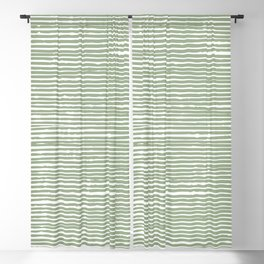 Abstract Stripes, Sage Green, Boho Wall Art Blackout Curtain