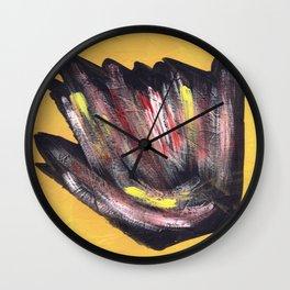 Cosmic yellow ing 7777 Wall Clock