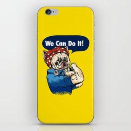 We Can Do It French Bulldog iPhone Skin