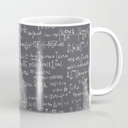 Math Equations // Charcoal Coffee Mug