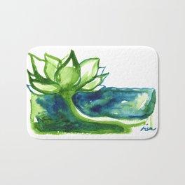 Green Lotus Bath Mat