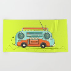 The Music Bus Beach Towel