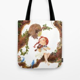 A girl playing violin Tote Bag