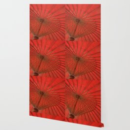 Big Asia Umbrella Red Colors Wallpaper