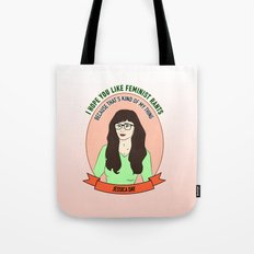 Jessica Day / New Girl Print Tote Bag