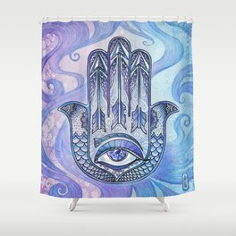 Hand of Fatima Shower Curtain