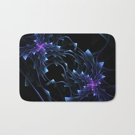 Surreal flowers fractal . Computer generated image. Neon colors Bath Mat