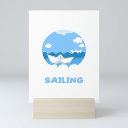 Funny Smooth Sailing Nautical Boating Sailor Mini Art Print