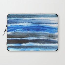 blue brush stroke Laptop Sleeve