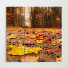 Fall on the Road Wood Wall Art