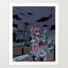 MONTREAL MAGICAL GIRL Art Print