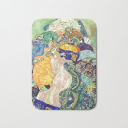 "Gustav Klimt ""Baby (Cradle)"" Bath Mat"