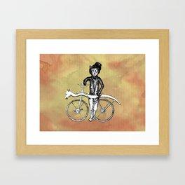 Bear's Bike Framed Art Print
