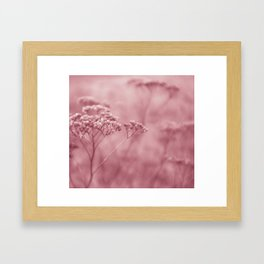 Nature in pink Framed Art Print