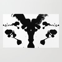 rorschach Area & Throw Rugs featuring Rorschach Test by Ruth Chapa