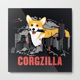 CORGZILLA Metal Print