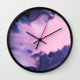 water color wave II COLLAB DYLA Wall Clock