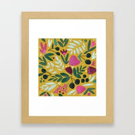 Mustard bouquet Framed Art Print