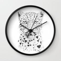 Lovely leopard Wall Clock