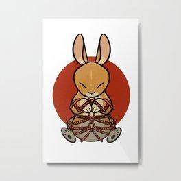 Rope Bunny Metal Print
