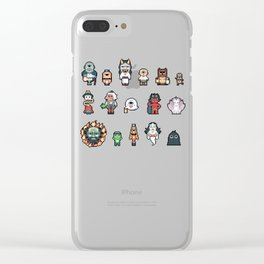 Cute pixel ghosts / yokais / monsters Clear iPhone Case
