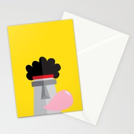 Moai back in the 70´s Stationery Cards