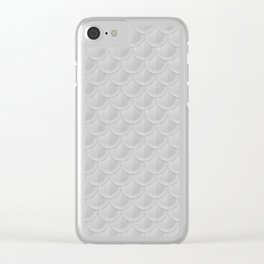 Silver Mermaid Scales Clear iPhone Case